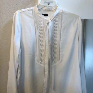 loft tie neck blouse
